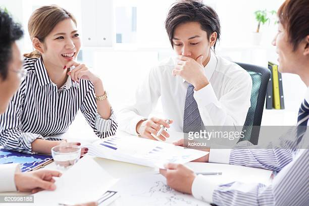 Business team with a conference