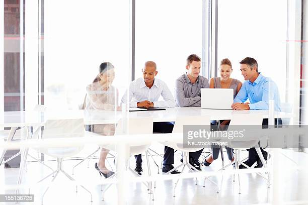 Business Team Working on a Laptop