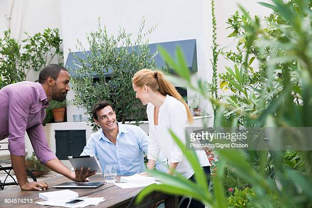 Business team working together on project