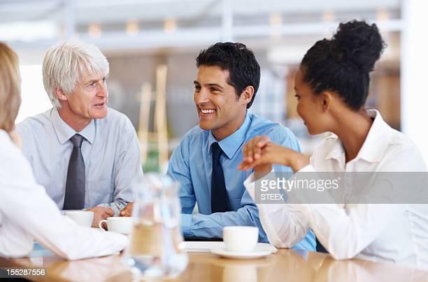 Business team Ideen in Zukunft