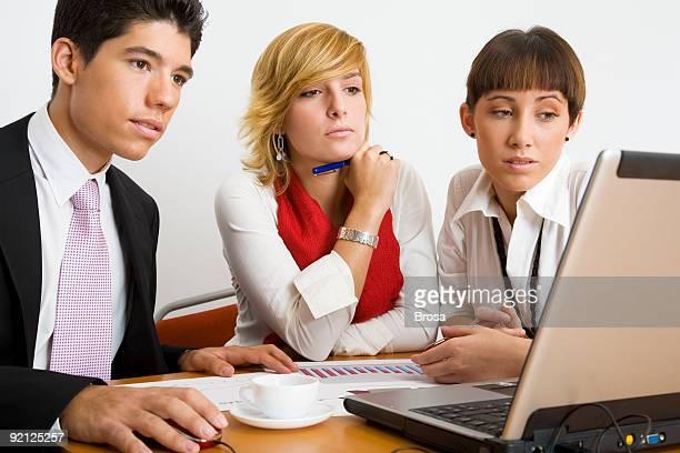 Business-trio