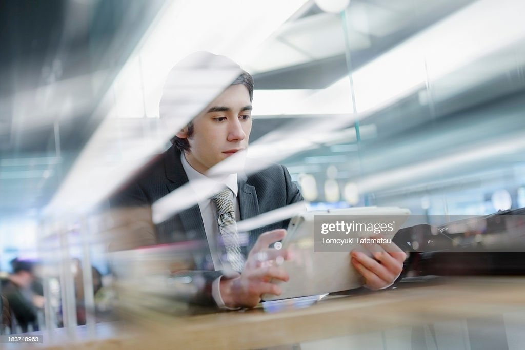 Business using digital tablet : Stock Photo