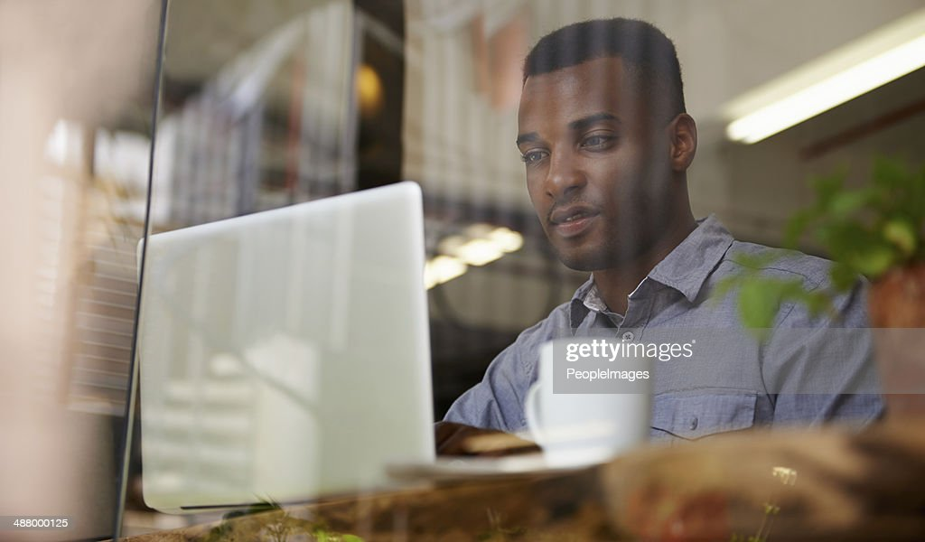 Business with the pleasure of coffee : Stock Photo