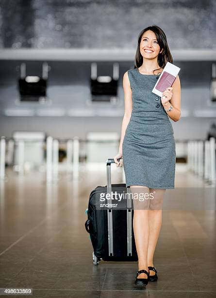 Business woman at the airport