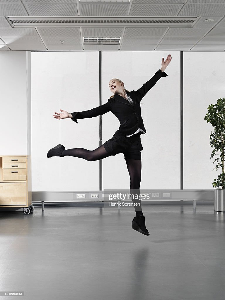 business woman dancing ballet : Stock Photo