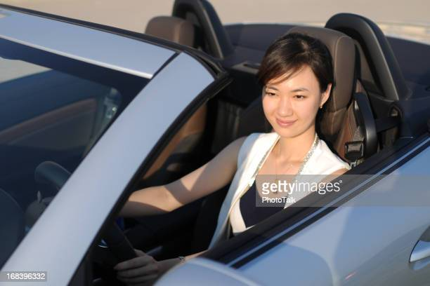 Business Woman Driving Car - XLarge