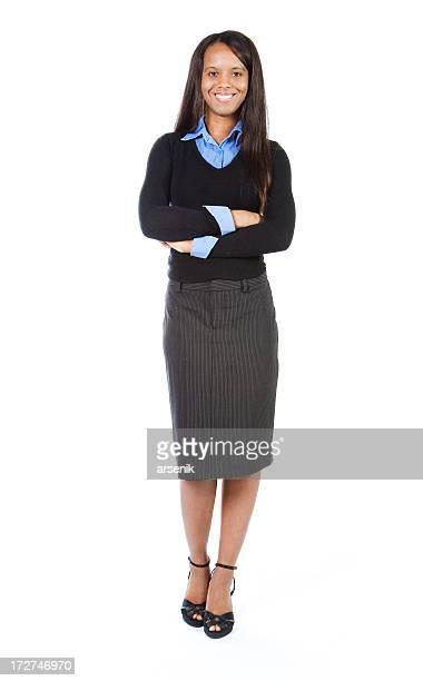Business woman full body.