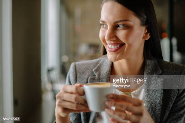 Business woman in cafe bar