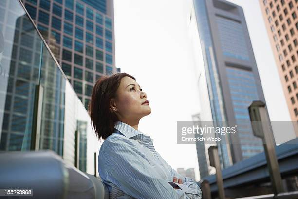 Business woman in city