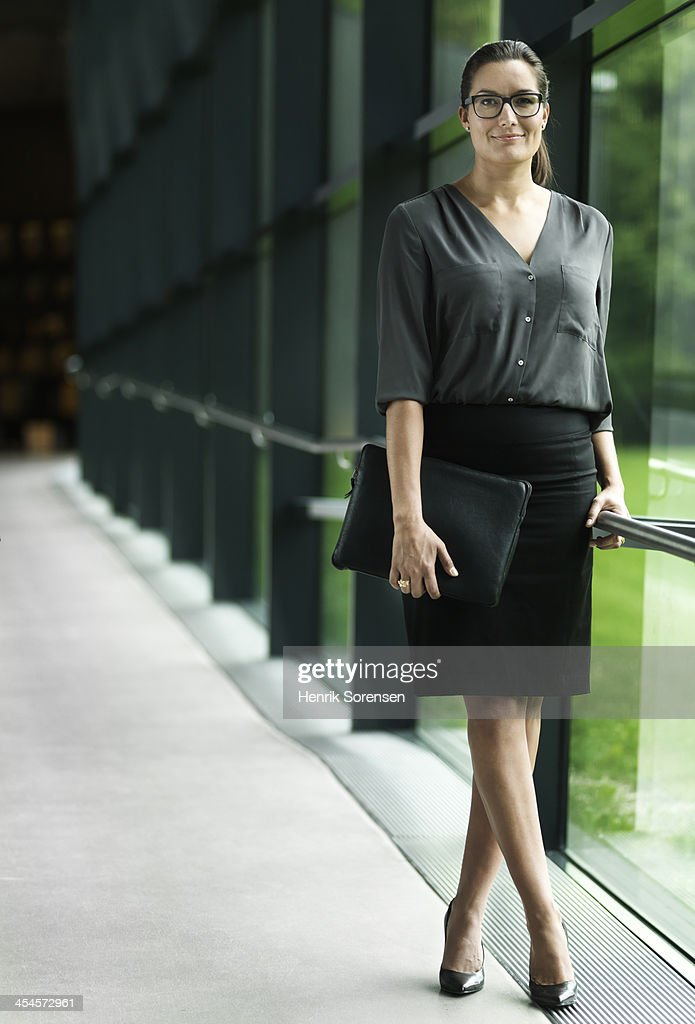 Business woman in hallway
