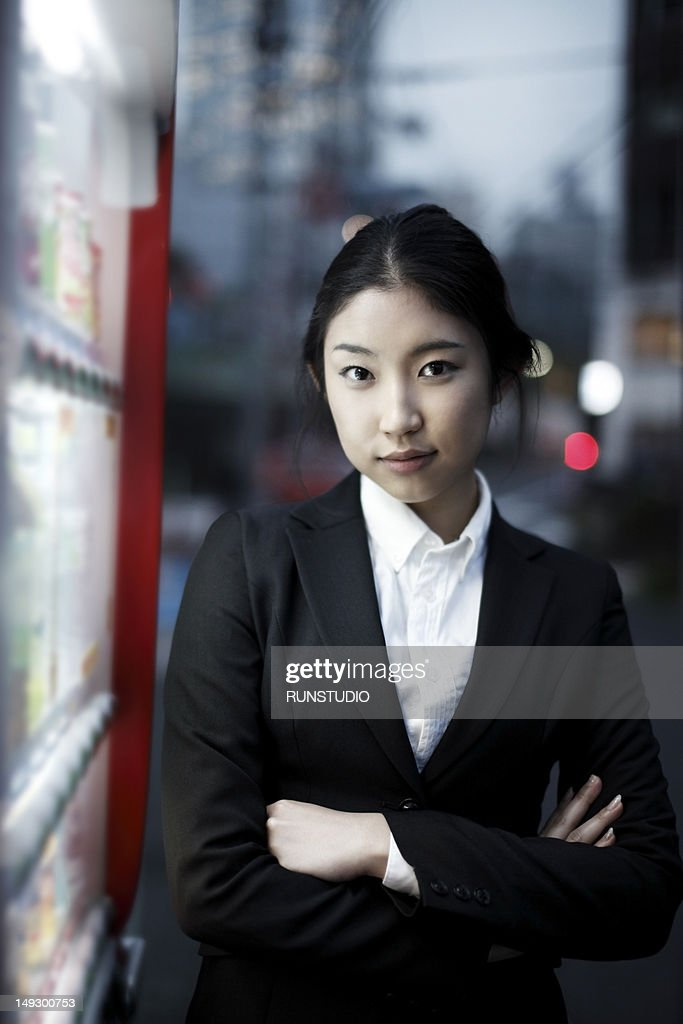 business woman in the night,portrait : Stock Photo