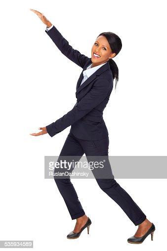 Business woman marketing. : Stock Photo