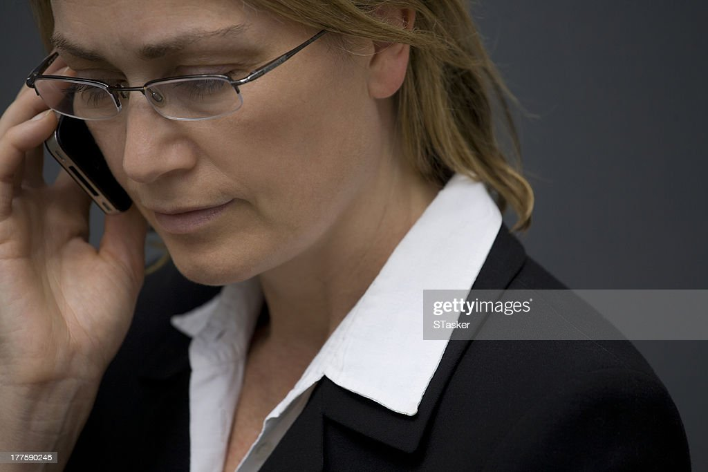 Business woman on phone : Stock Photo
