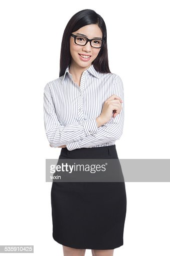 business woman portrait . crossed arms . : Stock Photo