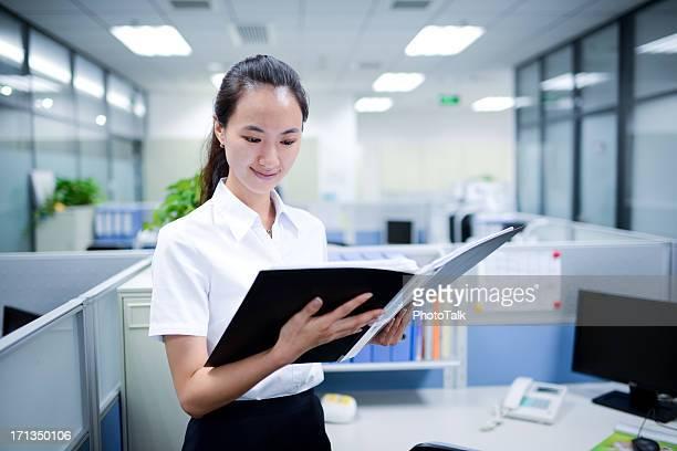 Business Woman Reading Documents - XXXXXLarge