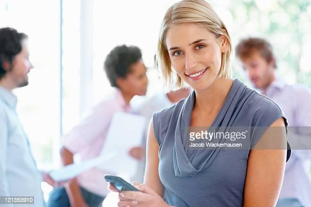 Business Frau SMS