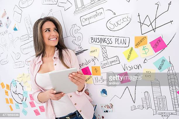 Business woman using a digital tablet