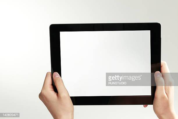 business woman using digital tablet ,close-up