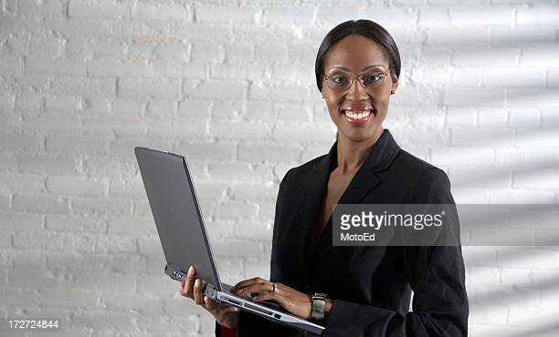 Business Woman using laptop.