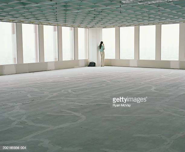 Business woman visiting empty office space
