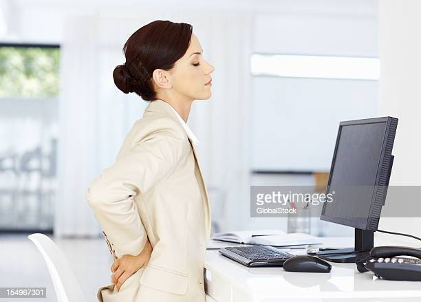 Business woman with backache