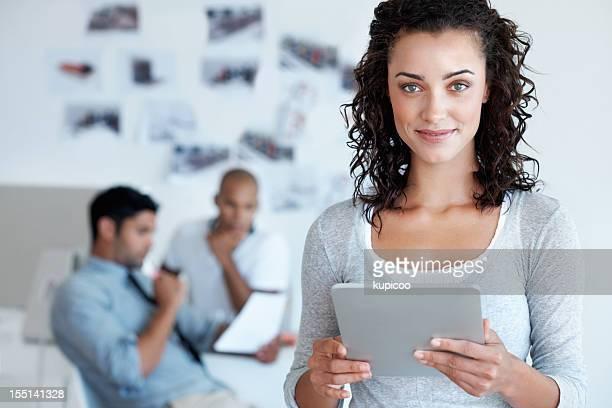 Business-Frau mit tablet PC
