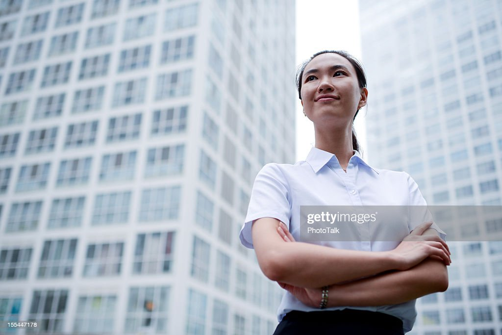 Business Woman with Office Building Backgrounds - XXXXXLarge