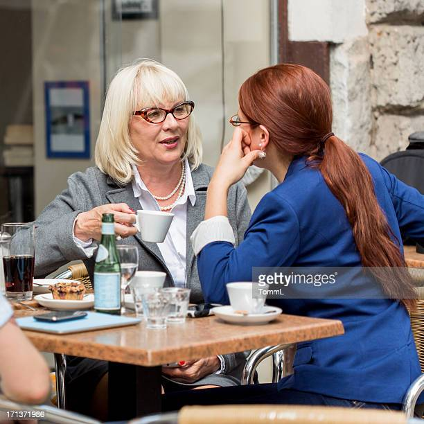 Business Women in a Cafe