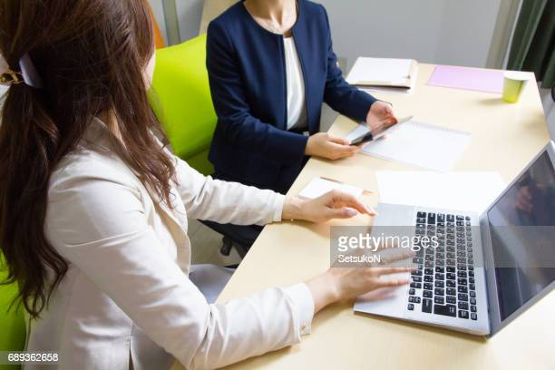 Business Women, One-to-one Meeting