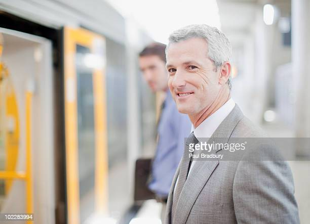 ビジネスマンを入力するので、鉄道駅