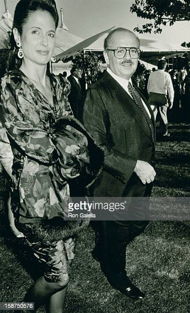 Businessman Adnan Khashoggi and date attend Liberty Weekend Launch Party on July 3 1986 at Governor's Island in New York City