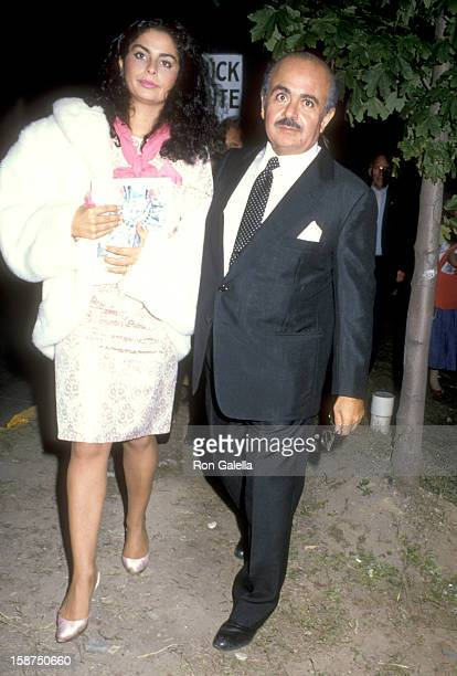 Businessman Adnan Khashoggi and daughter Nabila Khashoggi attend the Opening Ceremonies for Liberty Weekend on July 3 1986 at Governor's Island in...