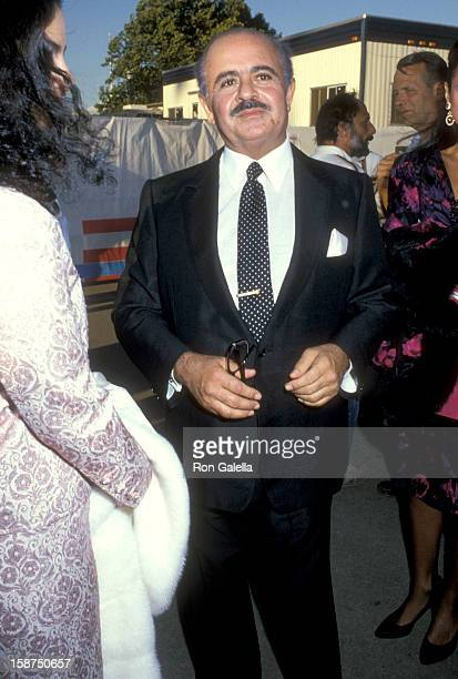 Businessman Adnan Khashoggi attends the Opening Ceremonies for Liberty Weekend on July 3 1986 at Governor's Island in New York City