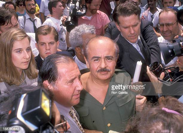 Businessman Adnan Khashoggi on July 27 1989 leaves The Federal Court in New York City
