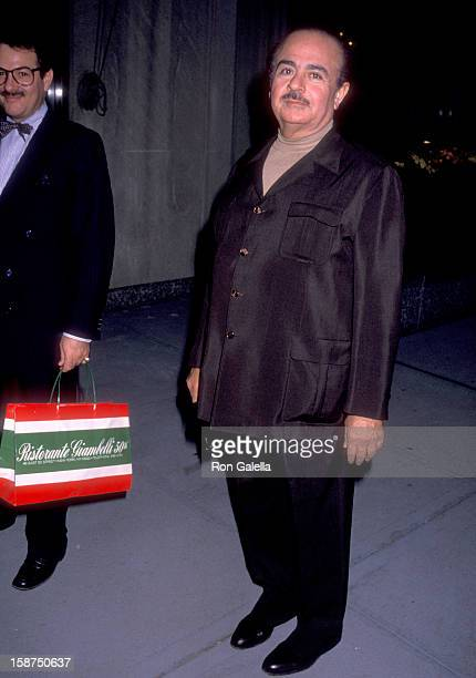 Businessman Adnan Khashoggi on October 24 1989 arrives at The Regency Hotel in New York City