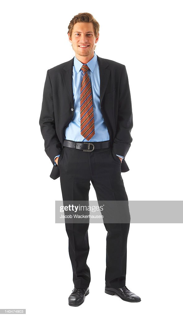 Businessman against a white background