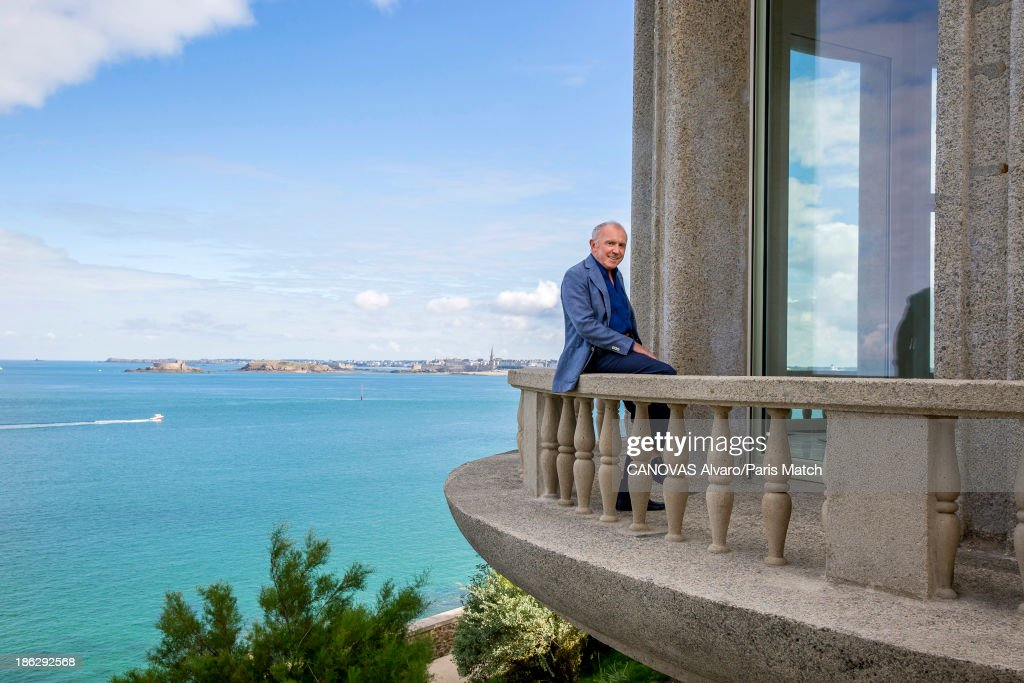 Businessman and art collector Francois Pinault is photographed for Paris Match on October 9, 2013 in Dinard, France.