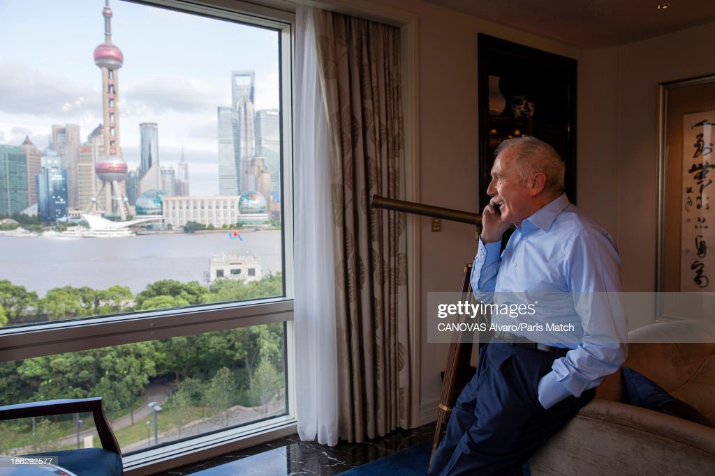 Businessman and art collector Francois Pinault is photographed for Paris Match on September 9, 2013 in Shanghai, China.