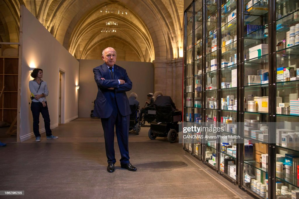 Businessman and art collector Francois Pinault is photographed for Paris Match on September 17, 2013 in Paris, France.