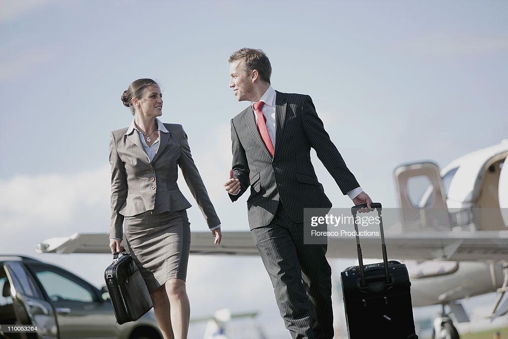 Businessman and Businesswoman : Stock Photo