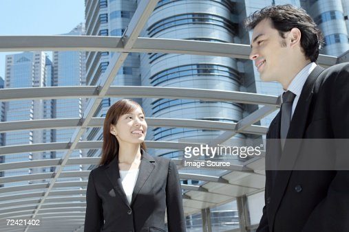 Businessman and businesswoman : Stock Photo