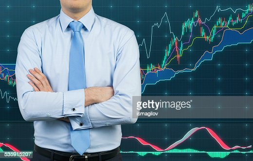 businessman and chart : Stock Photo