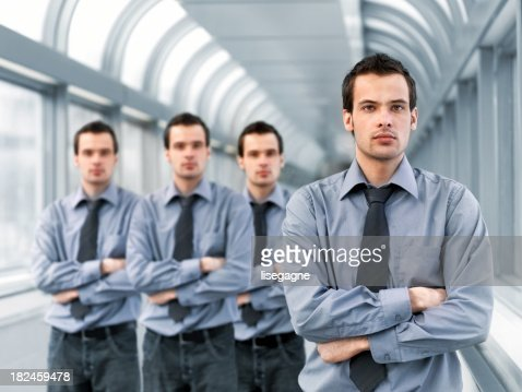 Businessman and clones