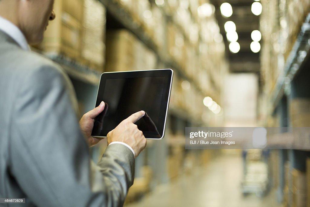Businessman and digital tablet