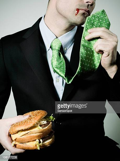 Businessman and junk food