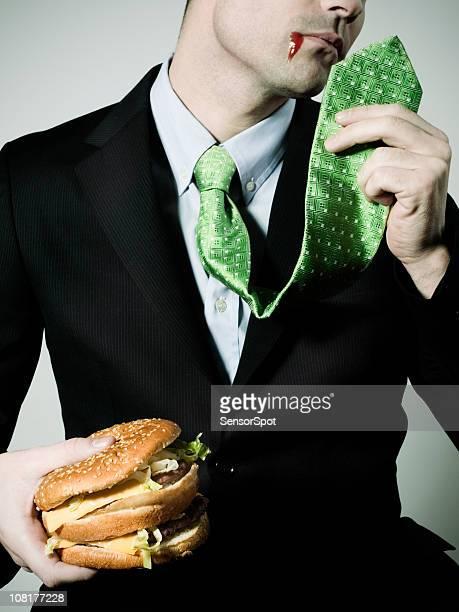 Geschäftsmann und junk food
