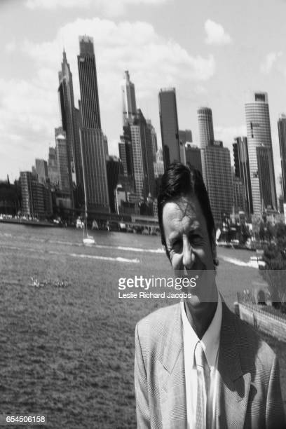 Businessman and Sydney Skyline