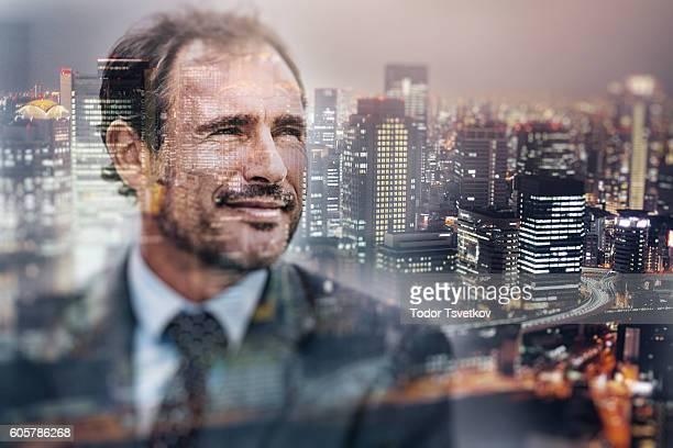 Geschäftsmann und die Stadt