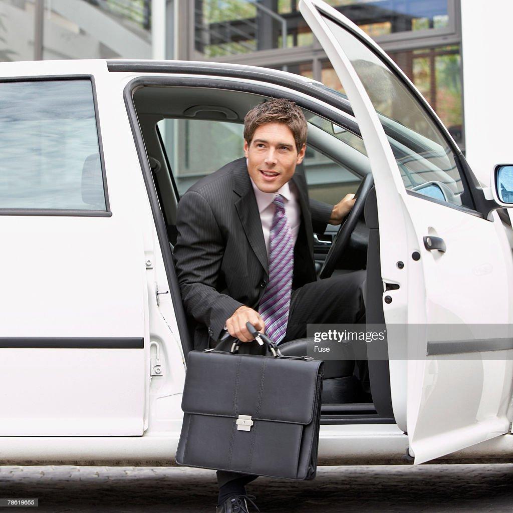 Businessman Arriving Home