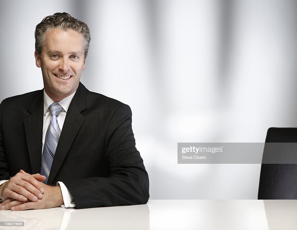 Businessman at an interview : Stock Photo
